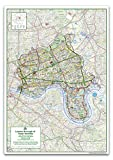 London Borough of Tower Hamlets Map - Size 84.1 x 118.9 cm