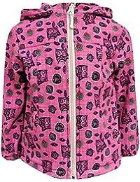 Outburst - Baby Mädchen Softshelljacke Regenjacke mit Kapuze Eulen-Motiv wasserabweisend, pink - 8470517