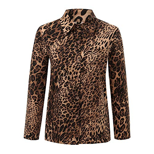 ❤️ Blusa de Invierno Mujer Leopardo, Mujeres Diario Casual Estampado Leopardo Top T Shirt Damas Sueltas de Manga Larga Top Blusa Absolute