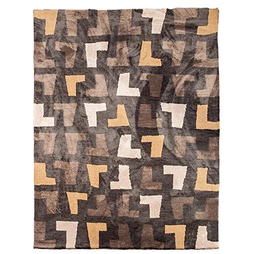 Preisvergleich Produktbild bagehua Geometrische Schwarz und Weiß Sofa Couchtisch groß Teppich Wohnzimmer Schlafzimmer Home Nachttisch-Teppiche, 240cm × 340cm
