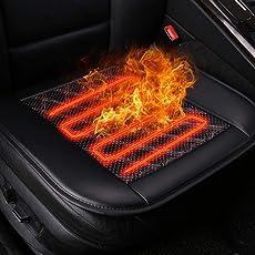 Universal12V beheizte Auto Sitzkissen mit Temperaturregler, Winter Auto Sitz wärmer Abdeckung Heizkissen 12V Stecker in Zigarettenanzünder Rutschfeste für Kaltes Wetter und Winter Fahren
