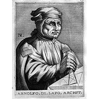 Grafik Arnould Di Lappo - Arnolfo di Cambio Architekt architect Kupferstich Portrait engraving