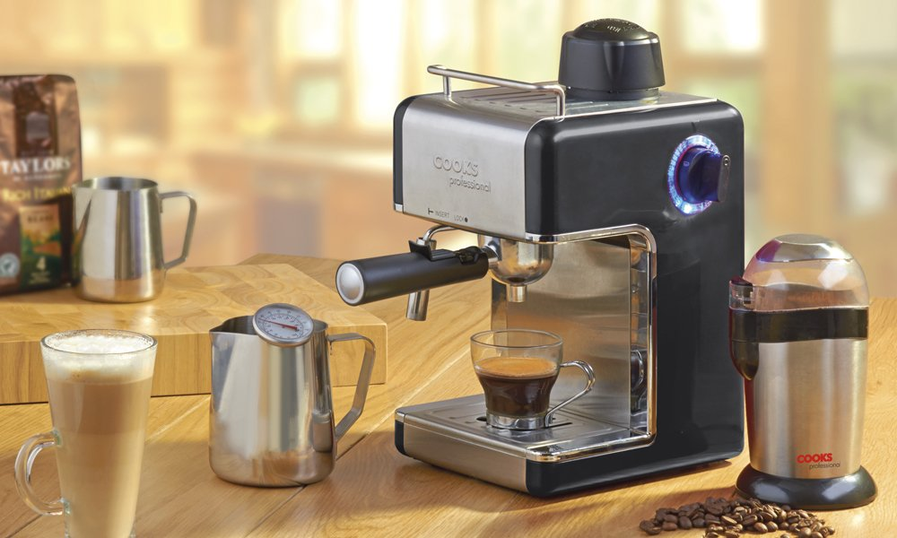 cooks professional bar style traditional espresso cappuccino latte coffee machine milk watts italian maker review commercial brands how to us