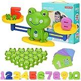 Juegos Matematicos Balanza para Niños, Equilibrar Rana Animal Juguete Montessori con Numer Tarjeta, Number y Matemáticas Apre