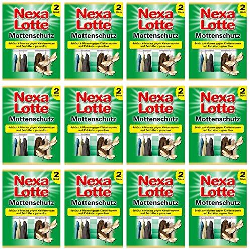 GARDOPIA Sparpaket: 12 x 2 (24 Stk) Nexa Lotte Mottenschutz + Gardopia Zeckenzange mit Lupe