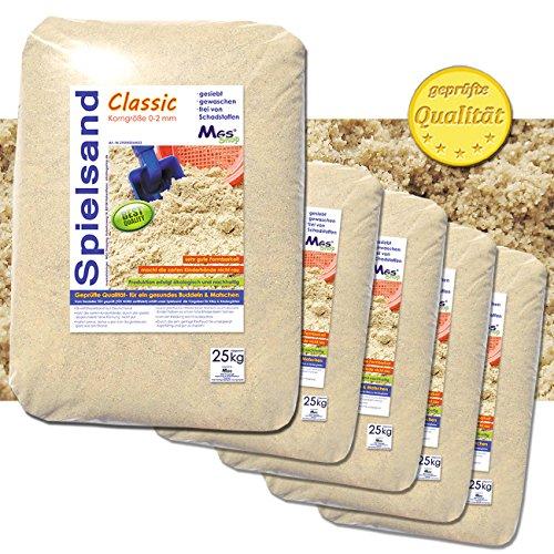 125 kg Spielsand Quarzsand TÜV geprüft TOP Qualität 0 - 2 mm Sandkasten (Sandkasten Sand)