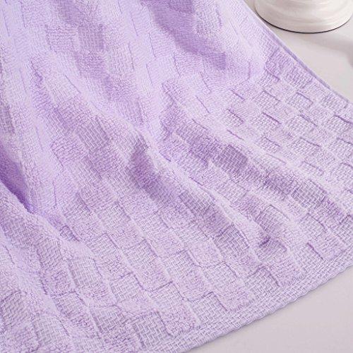 Asciugamani, Cotone, Lattice, Vasca da bagno, Asciugamano Fitness, Piscina, Camping Sport Turismo, 3 per pacchetto ( Colore : Verde ) Viola