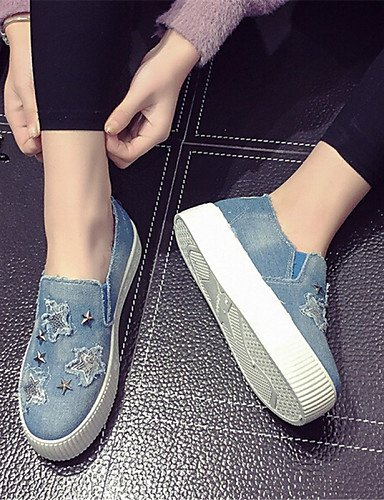 ZQ gyht Scarpe Donna-Mocassini-Tempo libero / Casual-Creepers-Plateau-Denim-Blu , dark blue-us8 / eu39 / uk6 / cn39 , dark blue-us8 / eu39 / uk6 / cn39 light blue-us5 / eu35 / uk3 / cn34