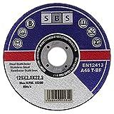 25 Stück SBS Trennscheiben 125 x 2,0mm INOX Flexscheib