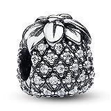 Lily Jewelry Ananas clear CZ 925Sterling Silber Bead für Pandora Charm Armband
