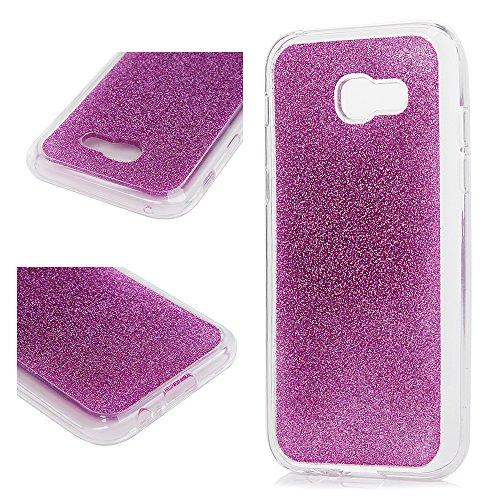 MAXFE.CO Schutzhülle Tasche Case für iPhone X PU Leder Flip Tasche Cover Prägung Einhorn Muster im Ständer Book Case / Kartenfach Grau Grau