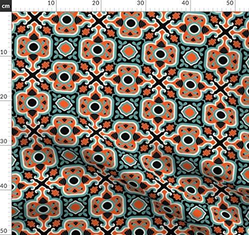 Renaissance, Türkisch, Islamisch, Persisch, Viktorianisch, Spanisch, Fliese Stoffe - Individuell Bedruckt von Spoonflower - Design von Muhlenkott Gedruckt auf Bio Musselin (Muster Islamische Nähen)