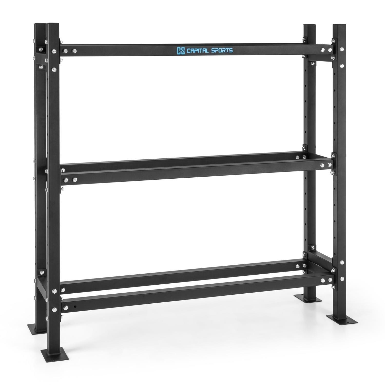 Capital Sports Traytor B Storage Rack Palestra Scaffale Porta Dischi e Palle Mediche (186 x 180 x 60