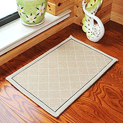 tessuto imbottito suede-sliding Zerbino assorbente tappetino antiscivolo facile da pulire