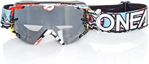O Neal Fahrrad Motocross Brille Kinder Mx Mtb Dh Downhill Freeride Verstellbares Band Optimaler Komfort Perfekte Belüftung B 30 Youth Goggle Crank Schwarz Multi Verspiegelt One Size Sport Freizeit