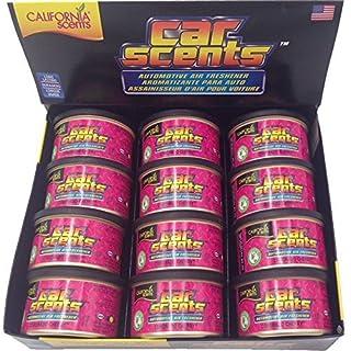 California Scents Car Scents Autoduft Lufterfrischer Duftdosen Air Freshener, Coronado Cherry , 42g (12 Stück)
