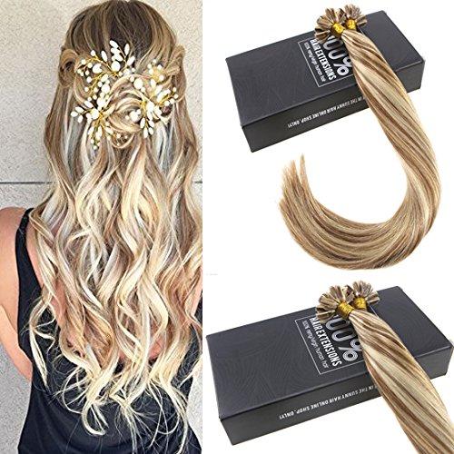 Sunny 50g extension capelli veri cheratina ombre marrone con bionda capelli umani remy u tip pre bonded human hair extensions 50cm