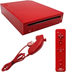 Nintendo Wii Red Gaming Console and Controller (Red)