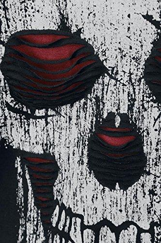 Rock Rebel by EMP Slash Eyes Skull Girl-Longsleeve bordeaux Bordeaux