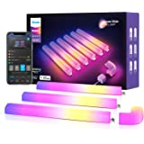Govee Glide Wall Light, LED Light Bar für Gaming und Streaming, Multicolor Anpassbar, Music Sync Home Decor, mit 40+ dynamisc