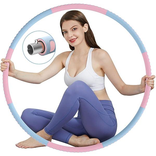 AZ GOGO Fitness/Hula Hoop Reifen Erwachsene zum/Abnehmen Zerlegbar Hoola/Hup/Reifen Hullahub/Reifen f/ür Training//B/üro//Zuhause Fitnessreifen Hula-Hoop-Reifen zur/Gewichtsreduktion und Massage