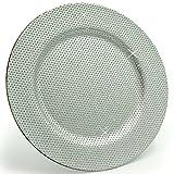 1 Stück _ großer Teller -  Silber - Glitzer & Glanz  - Ø 33 cm - Unterteller / Platzteller / Plätzchenteller - Keksteller - grau / edel - festlich gedeckte .. - 5