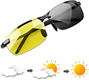 YIMI Polarized Photochromic Outdoor Sports Sunglasses for Men and Women Anti Glare UV400 Protection for Day and Night Drivin
