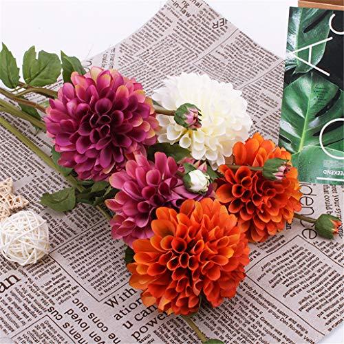 Bumen Sonnenblumen Real Touch Schöne Echtes Moisturizing Curling Knospe Latex künstliche Rose Kunstblumen Blume Dekoration Blumenstrauß Blumenarrangement