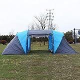 Costway Kuppelzelt Familienzelt Campingzelt Trekkingzelt für 4 Personen mit Tragetasche -