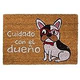 DCASA dcasa - Felpudo Perro Original Cuidado con El dueño 40x70 cm..