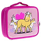 Bugzz Childrens I Love Pony Lunch Bag Pink Food Container(Size: 10inches x 8 inches)