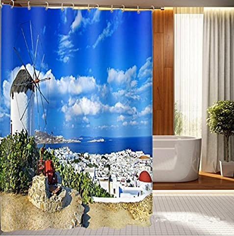 KKLL Shower curtain Deluxe printed waterproof shower curtain partitions , 150*180cm