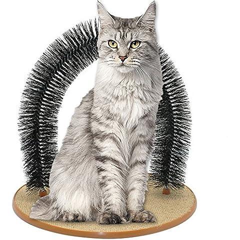 syalex (TM) Purrfect Gatto giocattolo arco massaggio