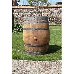 Original barril de vino de barrica de roble Barril 225L Pie mesa Casa Jardín Decoración, Madera Barril
