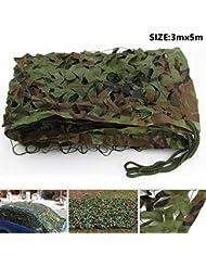 Royaliya Tarnnetz Camouflage Netz 2x3/3x5m Jagd Bundeswehr Sonnenschutz Tarnung Netz Freizeit Camping Outdoor