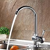 Auralum® Waschtischarmatur Einhandmischer Wasserhahn Spültisch Waschbecken Armatur inkl. 2x Flexible
