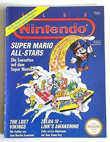 Club Nintendo Magazin SNES Super Nintendo NES GB (u.a. über Mario All Stars Zelda IV Lost Viking Mega Man 3 & 4 ) Spieleberater Zeitschrift Ausgabe 4 Sept. 1993