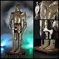 Dekoration Dekofigur Ritterrüstung Ritter mit Schwert Schild 45 cm Ritterheim