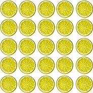 40 قطعة محاكاة لشرائح الليمون البلاستيك وهمية والفواكه الاصطناعية الصغيرة نموذج حزب مطبخ الزفاف الديكور شرائح