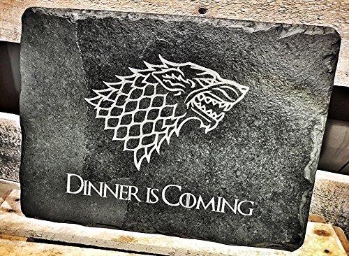 """""""Game of Thrones""""-Design Schiefertafel-Schneidebrett / Tischunterlage / Käseplatte / Servierplatte–Geschenk für GOT-Fans"""