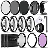 Neewer® 58mm Kit di Accessori e Filtri Completo per Obiettivi con Filettatura 58mm: Set di Filtri UV/CPL/FLD + Macro Close-up Set (+1 +2 +4 +10) + Set di Filtri ND (ND2 ND4 ND8) + Altri Accessori