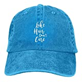 Pants Hats Lake Hair Don't Care Denim Hat Adjustable Male Dad Baseball Cap
