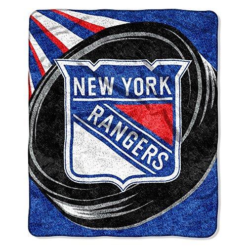 Northwest NHL New York Rangers Puck Sherpa Überwurf Decke, 50x 152,4cm