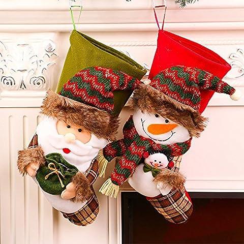 Weihnachtsbeutel - Weihnachts-Süßigkeiten-Taschen - cinnamou Weihnachtsbaum-Verzierung - - Weihnachtsgeschirr-Beutel - Essgeschirr-Abdeckung (Rot)