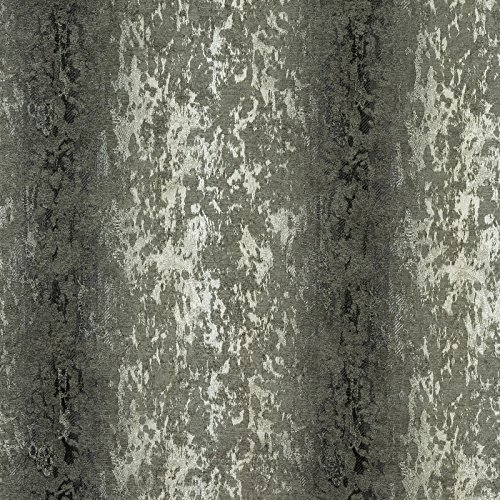 Porter & Stone–Barock–Silber–Vorhang Stoff–Meterware