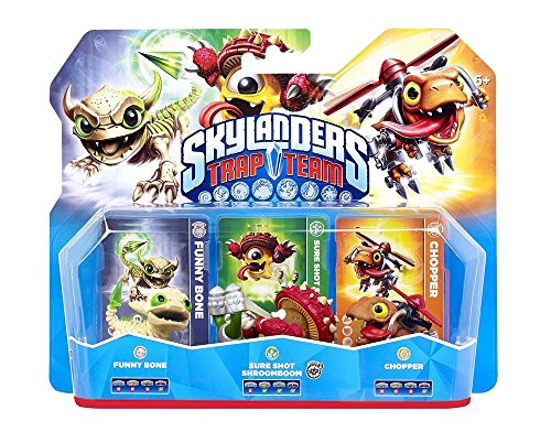 Figurine Skylanders : Trap Team - Chopper + Funny Bone + Shroomboom