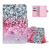 Aeeque Galaxy Tab A 10.1 inch Case Flip, Bling Glitter Diamonds Pattern Slim Premium Silicone PU Leather Folio Protective Tablet Case Cover for Samsung Galaxy Tab A 10.1 inch SM-T580/T585