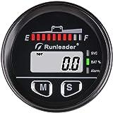 EVGATSAUTO Digital Batterieanzeige mit Betriebsstundenz/ähler Passend f/ür Golfwagen 12V//24V//36V//48V//72V Batterieanzeige Betriebsstundenz/ähler