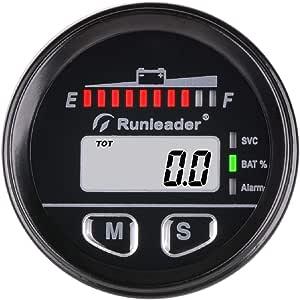 Runleader 12v Bis 48v Multifunktionsbatterie Ladezustandsanzeige Digitaler Wartungsstundenzähler Bleisäure Gel Lithiumeisen Lifepo4 Trojaner Agm Batterieanzeige Batterietester Bi025 Auto