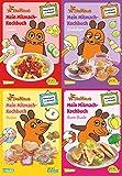Pixi kreativ 4er-Set 17: Mitmach-Kochbücher mit der Maus (4x1 Exemplar): Kochen, Backen und Rätseln für Kinder